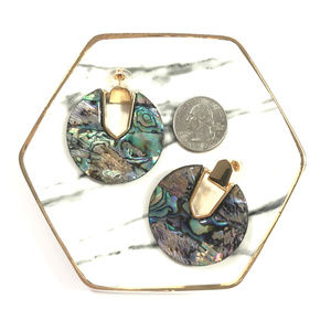 Tennessee Bellee Boutique Jewelry - Serena Faux Abalone Circle Boutique Earrings